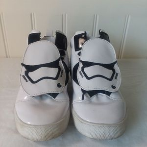 StarWars Storm Troopers Boys Hi Tops Shoes Size 1